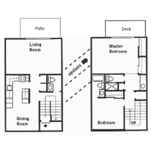 2 Bed 2.5 Bath Townhouse